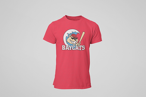 Baycats Vintage Logo T-Shirt Red Heather
