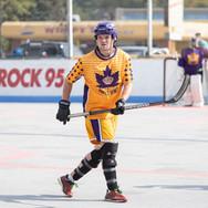 Athlete playing hockey