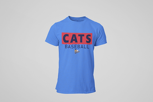 Baycats Club Logo T-Shirt Royal Heather
