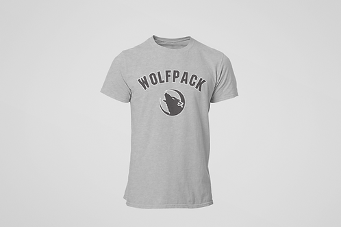 Barrie Wolfpack Heather Grey T-Shirt (Black Logo)