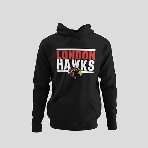 London Hawks Black Performance Hoodie