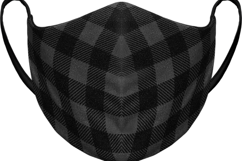 Black Plaid - Sublimated Reusable Face Mask