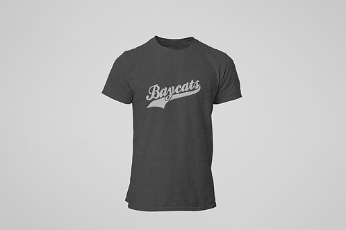 Barrie Baycats Script Logo T-Shirt Charcoal Grey