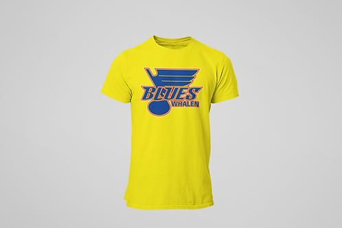 Whalen Blues Yellow T-shirt (Main Logo)