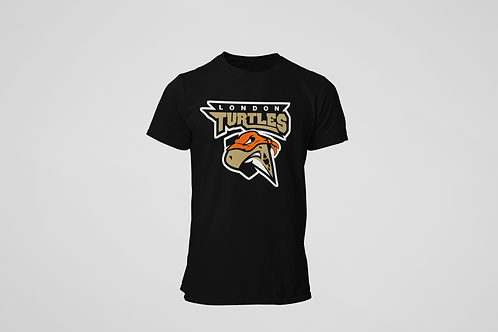 London Turtles Black T-Shirt (Main Logo)
