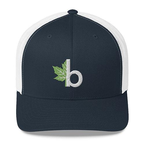 Brubacher b Logo Trucker Cap