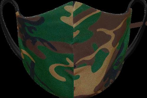 Green Camo - Sublimated Reusable Face Mask