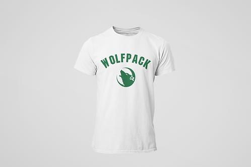 Barrie Wolfpack White T-Shirt (Green Logo)