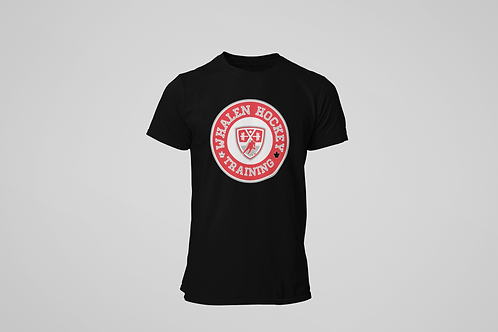 Whalen Blues Black T-shirt (Red Logo)