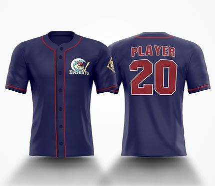 Barrie Baycats Custom Throwback Jersey Navy