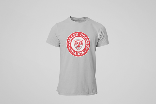 Whalen Blues Grey T-shirt (Red Logo)
