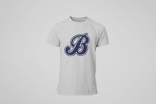 Baycats Jersey Logo T-Shirt Grey Heather