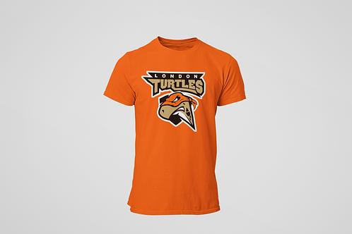 London Turtles Orange T-Shirt (Main Logo)