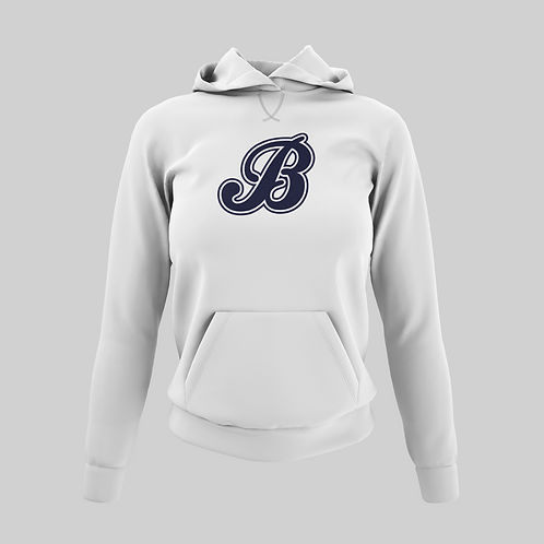 Baycats Women's Performance Hoodie B Logo White