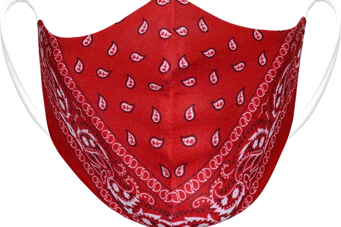 Red Paisley - Sublimated Reusable Face Mask