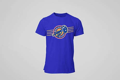 Whalen Blues Blue T-shirt (Striped Logo)