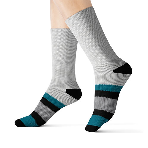 San Jose Sharks Vintage Team Colours Sublimation Socks