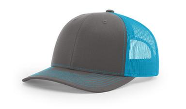 Richardson 112 - Charcoal Neon blue