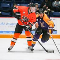 Athletes playing hockey