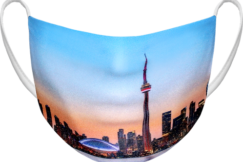 The Six Skyline - Sublimated Reusable Face Mask