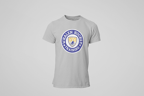 Whalen Blues Grey T-shirt (Blue Logo)