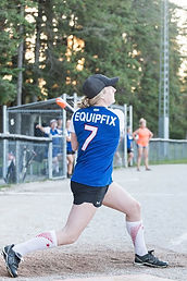 Athlete playing baseball