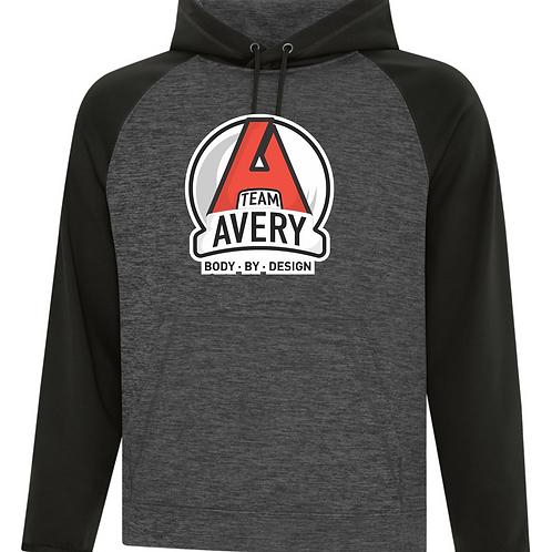 Team Avery Raglan Hoodie Black