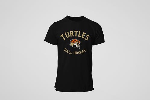 London Turtles Black T-Shirt (Gold Logo)