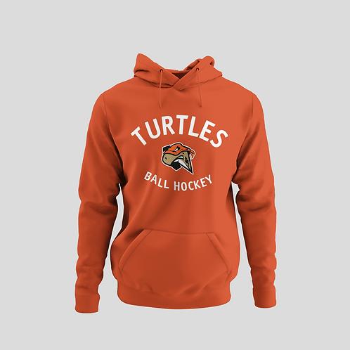 London Turtles Orange Performance Hoodie (White Logo)