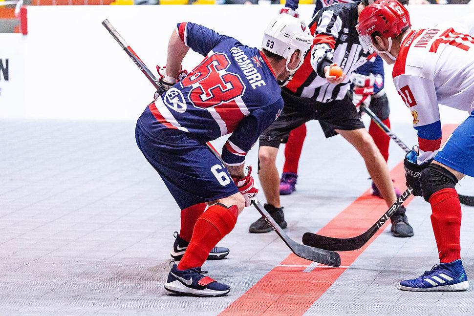 Players playing hockey