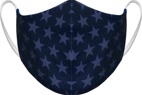 Navy Stars - Sublimated Reusable Face Mask