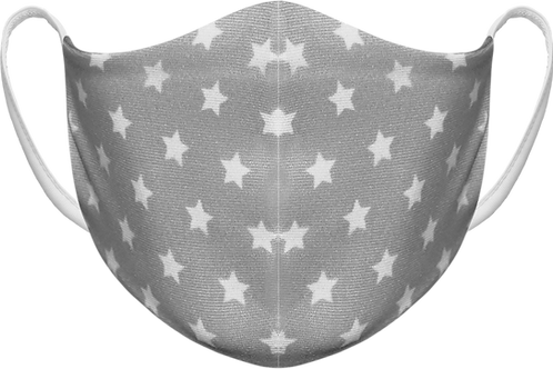 Grey Stars - Sublimated Reusable Face Mask