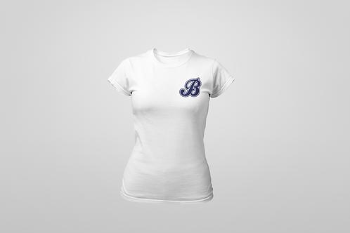 Baycats Women's Crewneck T-Shirt B Logo White