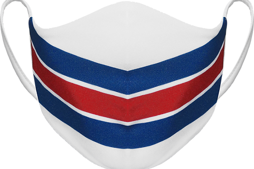 New York Rangers White - Sublimated Reusable Face Mask