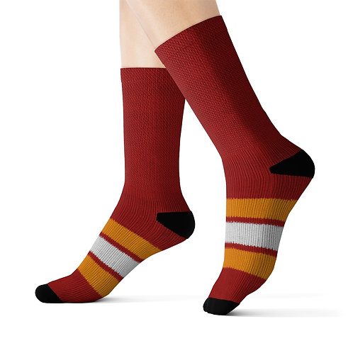 Calgary Flames Vintage Team Colour Sublimation Socks