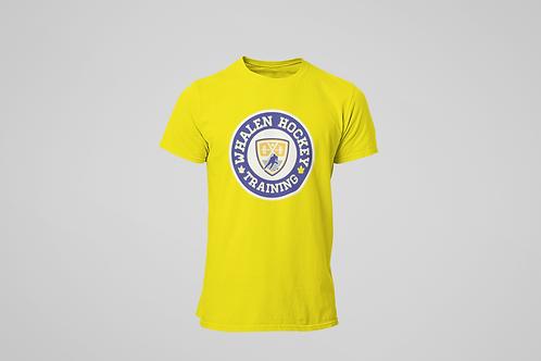 Whalen Blues Yellow T-shirt (Blue Logo)