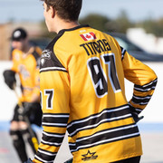 Athlete wearing a yellow jersey