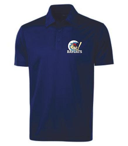 Baycats Team Golf Shirt - Navy Vintage Logo