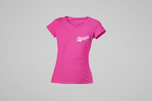 Barrie Baycats Ladies 2018 Champions V-Neck T-Shirt Pink