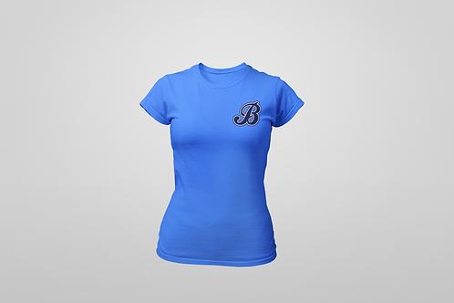 Baycats Women's Crewneck T-Shirt B Logo Sapphire