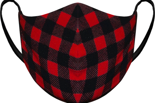Red Plaid - Sublimated Reusable Face Mask
