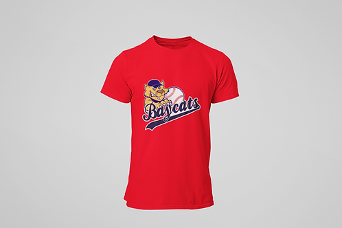 Barrie Baycats Youth Classic Logo T-Shirt Red