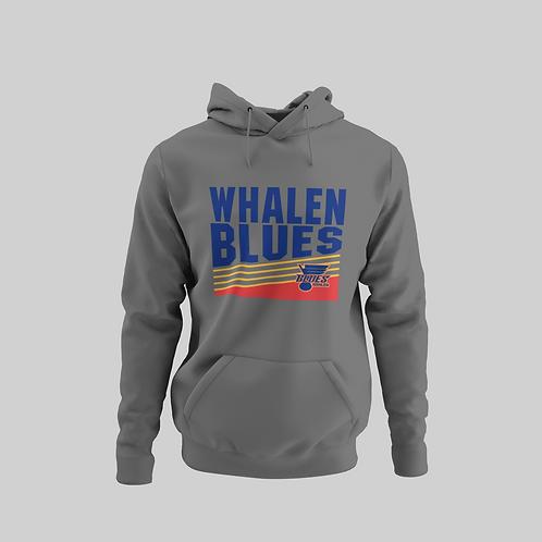 Whalen Blues Dark Grey Performance Hoodie (Vintage Logo)
