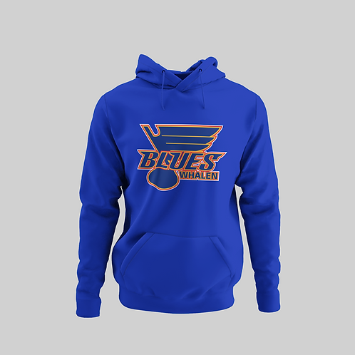 Whalen Blues Blue Performance Hoodie (Main Logo)
