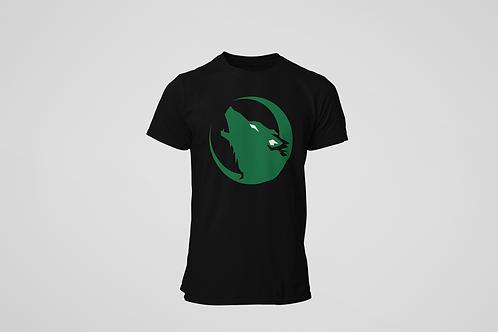 Barrie Wolfpack Black T-Shirt (Green Logo)