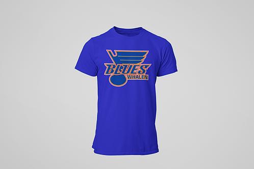 Whalen Blues Blue T-shirt (Main Logo)