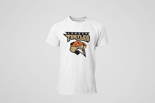 London Turtles White T-Shirt (Main Logo)