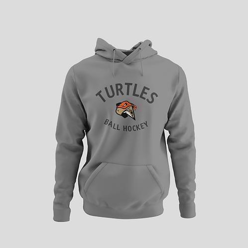 London Turtles Grey Performance Hoodie (Black Logo)