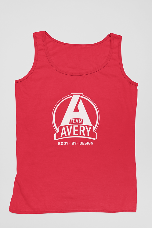 Team Avery Performance Tank Top Red - White Logo