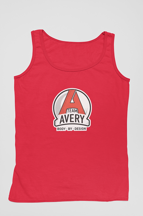 Team Avery Performance Tank Top Red